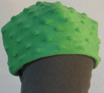 Beanie Cap in Green Dimples-Baby Newborn