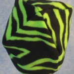 Short Cap in Green Zebra - back