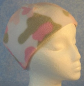 Short Cap in Pink Camo Print