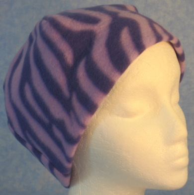 Short Cap in Purple Zebra
