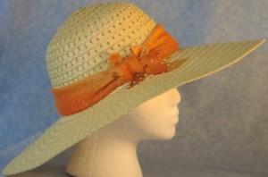 Wide Brim Hat Band-Orange