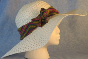 Wide brim hat band with V's