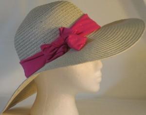 Wide brim hat band - sparkly pink
