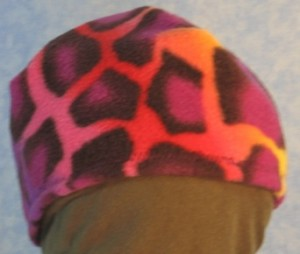 Short Cap in Psychedelic Giraffe - Single Layer