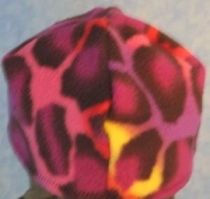 Short Cap in Psychedelic Giraffe - Single Layer - back