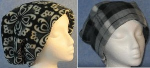 Black & White Flower and Gray Plaid Long Hats