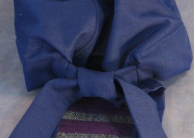 Do Rag in Blue with Purple Tail - CUSTOM - back