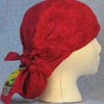 Hair Bag in Rose with Goldfinch Tail - side