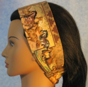 Headband in horse print - left side