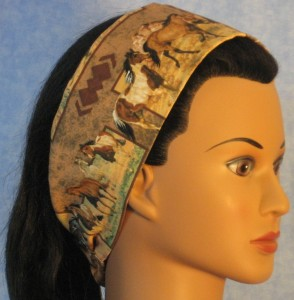 Headband in horse print - right side