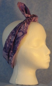 Head Wrap Worn as Band Tied in the Front