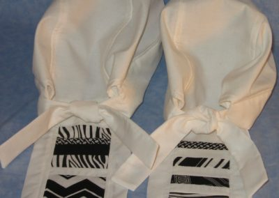 Do Rag in White with White and Black Tail - CUSTOM - back - pair