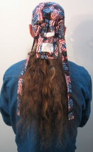 Putting on Hair Bag -Picture 2