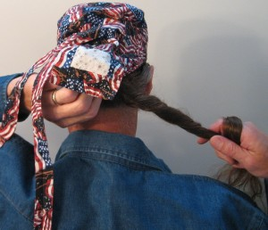 Putting on Hair Bag -Picture 3