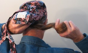 Putting on Hair Bag -Picture 4