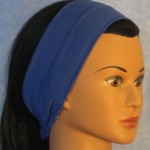Headband in blue - side