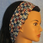 Headband in patriotic small flag print - side