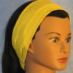 Headband in yellow feather print - side