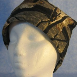 Band Cap in Black Tree Camo - front