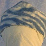 Band Cap in Blue and White Zebra - Baby - front