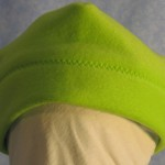 Band Cap in Lime Green - Baby - front