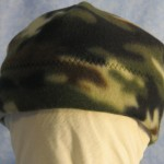 Band Cap in Small Olive Brown Camo - Baby - front