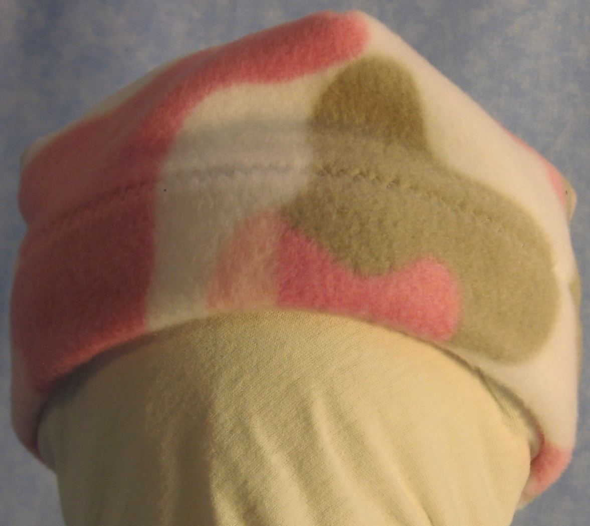 Beanie Band Cap in Pink Camo-Baby 6 Month