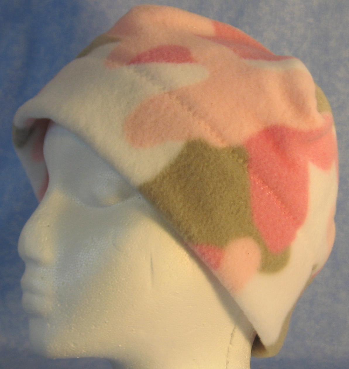 Beanie Band Cap in Pink Camo-Adult S