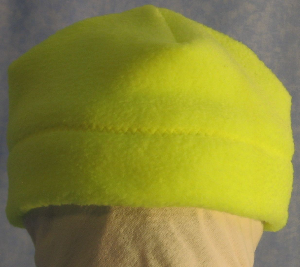 Beanie Band Cap in Fluorescent Yellow-Baby 12 Month