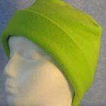 Long Hat in Fluorescent Green - rolled