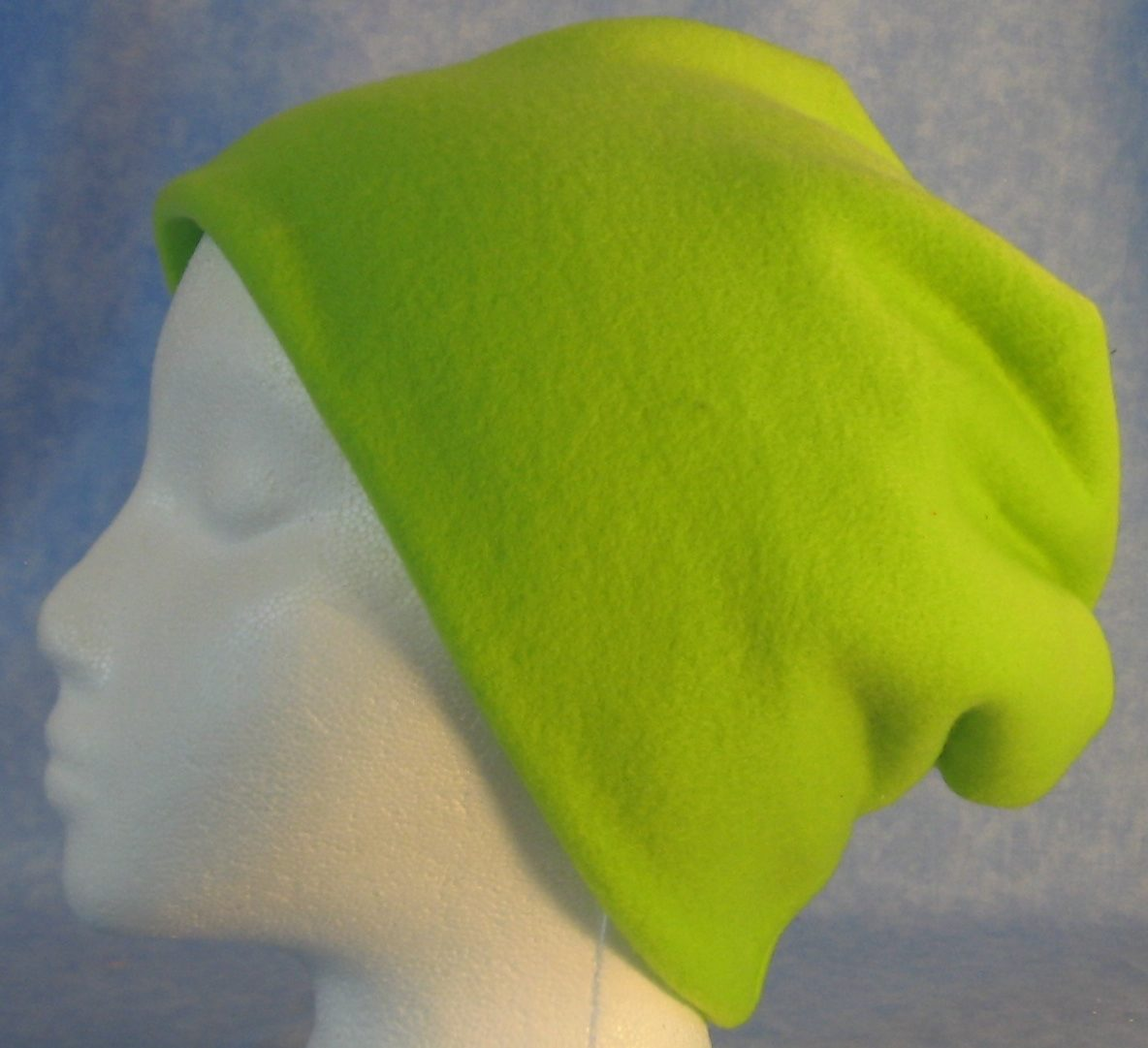 Long Hat in Fluorescent Green-Adult S