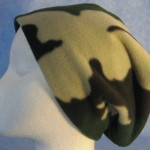Long Hat in Green and Brown Camo - unrolled