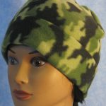Long Hat in Green and Green Camo - rolled