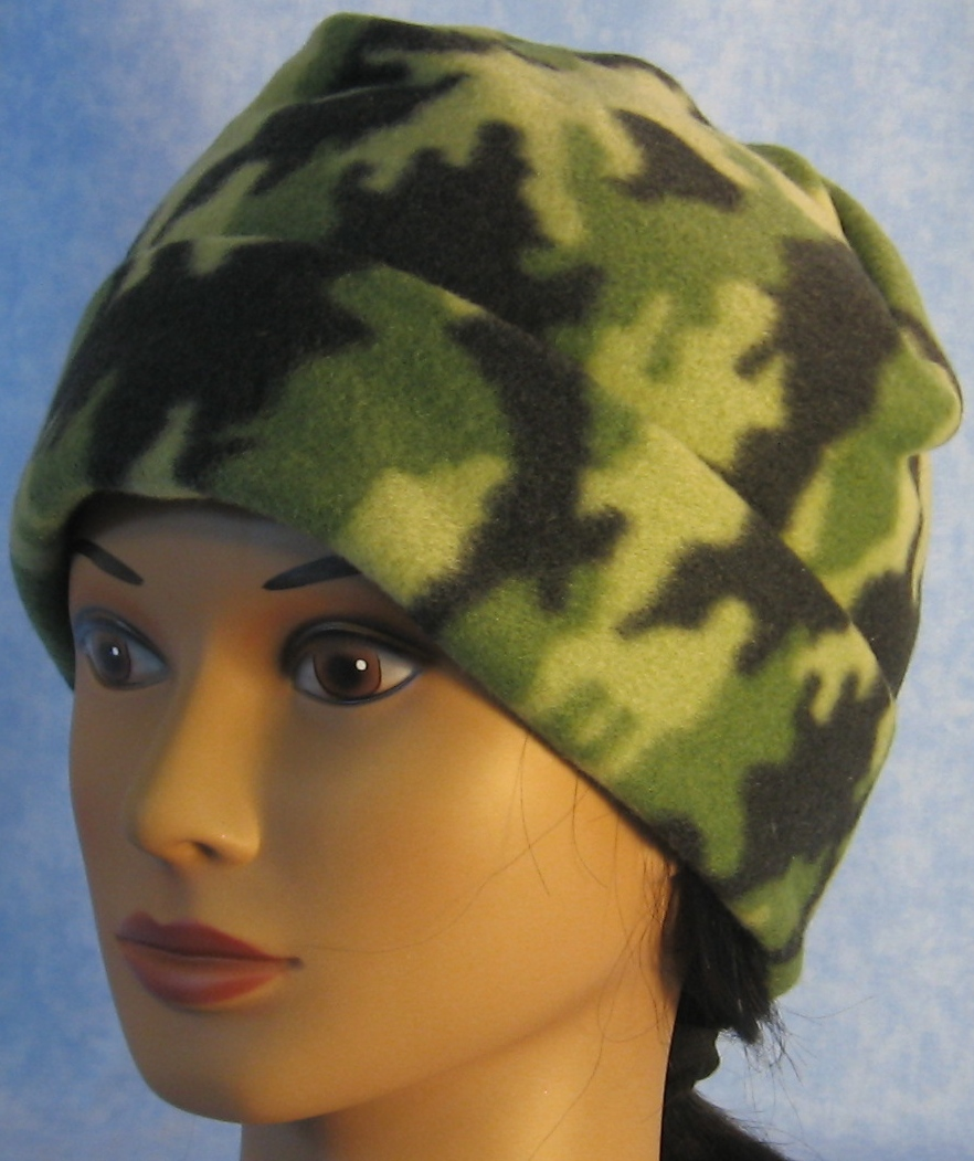 Long Hat in Green and Green Camo-Adult S