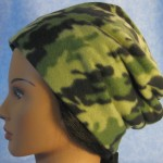 Long Hat in Green and Green Camo - unrolled