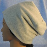 Long Hat in Light Gray - unrolled