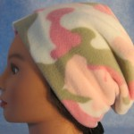 Long Hat in Pink Camo - unrolled