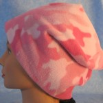 Long Hat in Pink and Pink Camo - unrolled