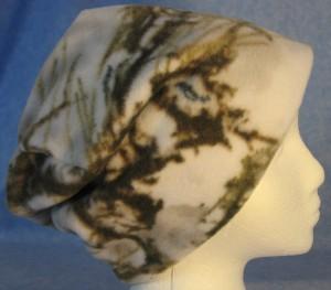 Long Hat in Winter Camo - unrolled