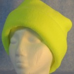 Long Hat in Fluorescent Yellow - rolled