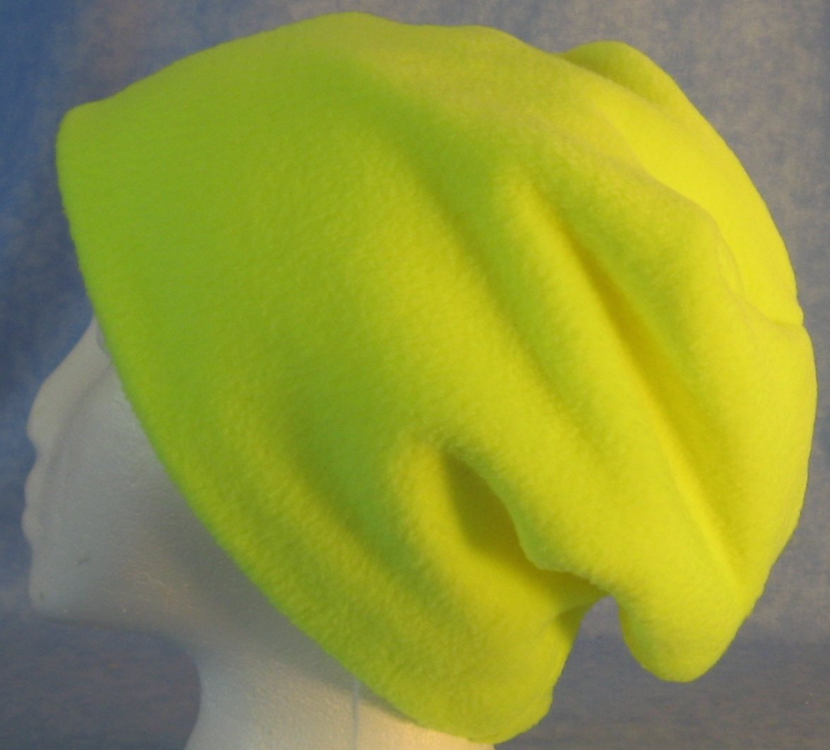 Long Hat in Fluorescent Yellow-Youth S-M