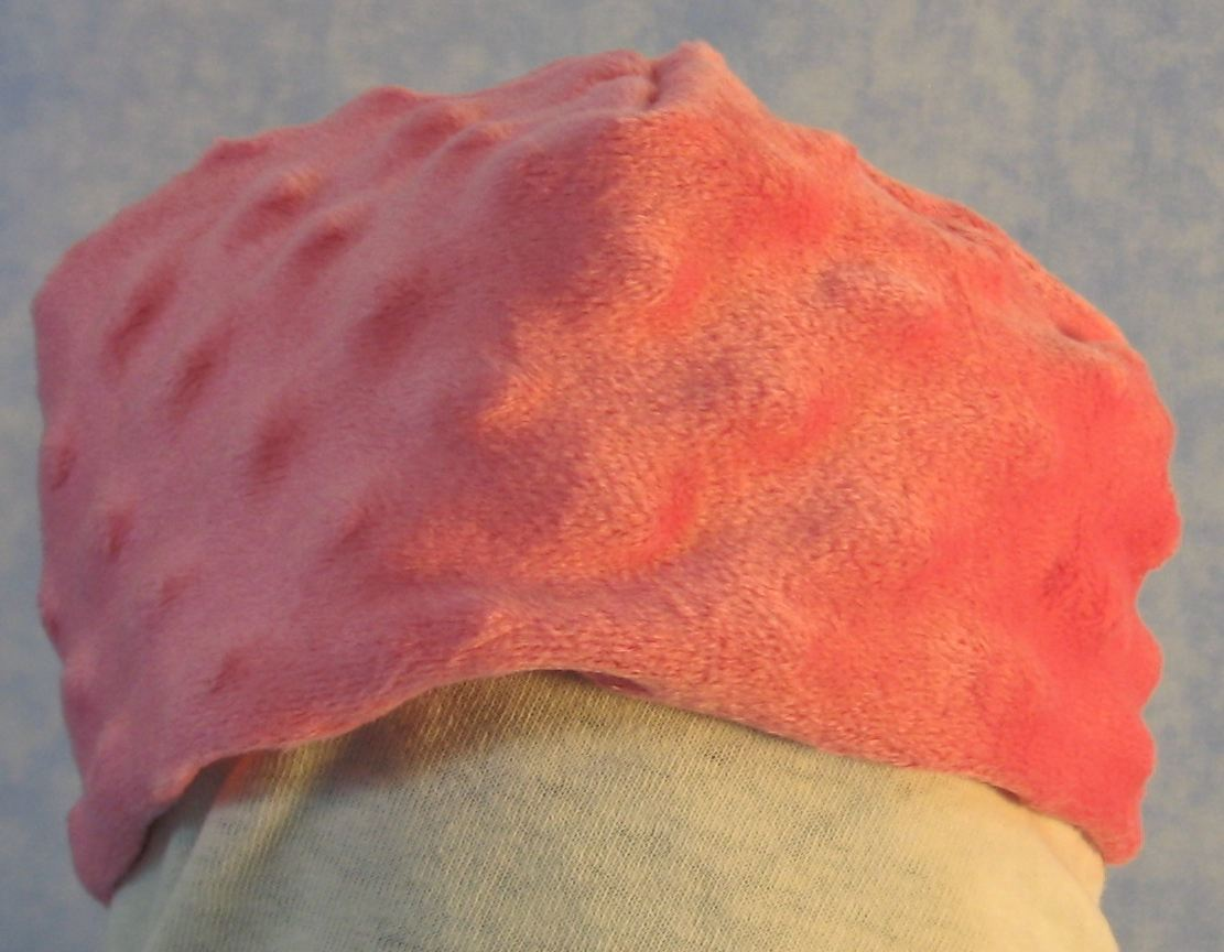 Beanie Cap in Pink Dimples-Baby Newborn