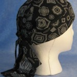 Do Rag in Black Geometric with Black White Tail - Adult - side