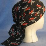 Do Rag in Black Pirate with Black Tail - Adult - side
