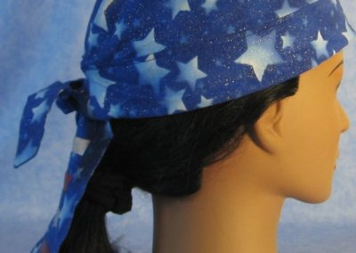 Do Rag in Blue Stars with Red and Silver Tail - Adult - side