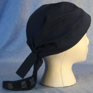 Do Rag in Navy with Black String Tail - 1X-3X Adult - side