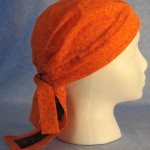 Do Rag in Orange Flowers with Black Rose Tail - Adult - side