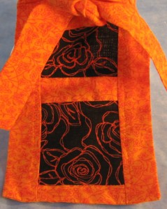 Do Rag in Orange Flowers with Black Rose Tail - Adult - tail