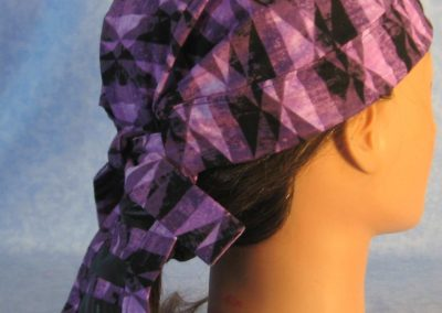 Do Rag in Purple Geometric with Black Tail - Adult - side