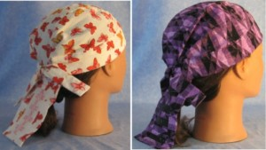Do Rags Pink Butterfly and Purple Geometric